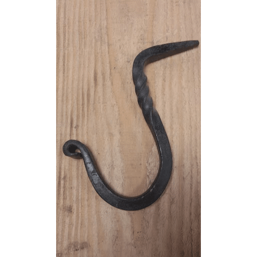 Hand Forged- Twisted Beam Hook (Small, Medium, Large)