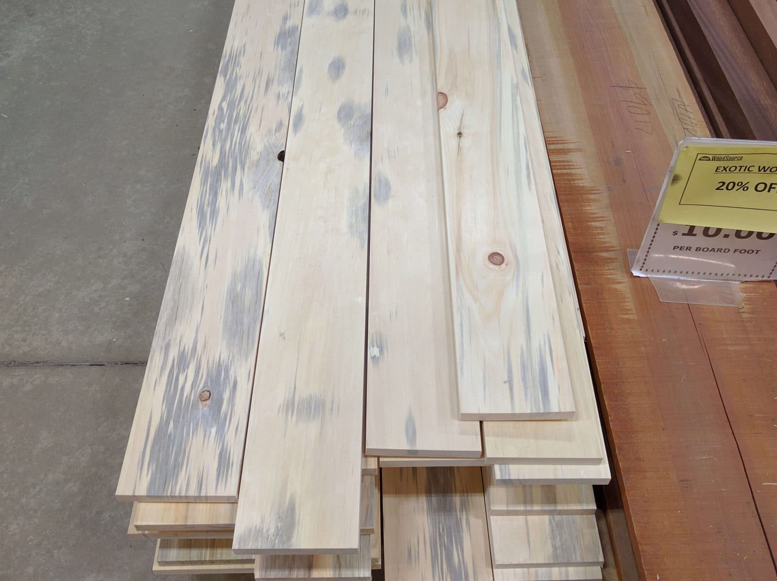 1x6 Denim Pine ($0.76/ft)