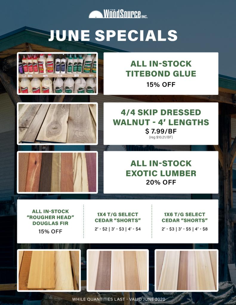 June 2020 - Specials